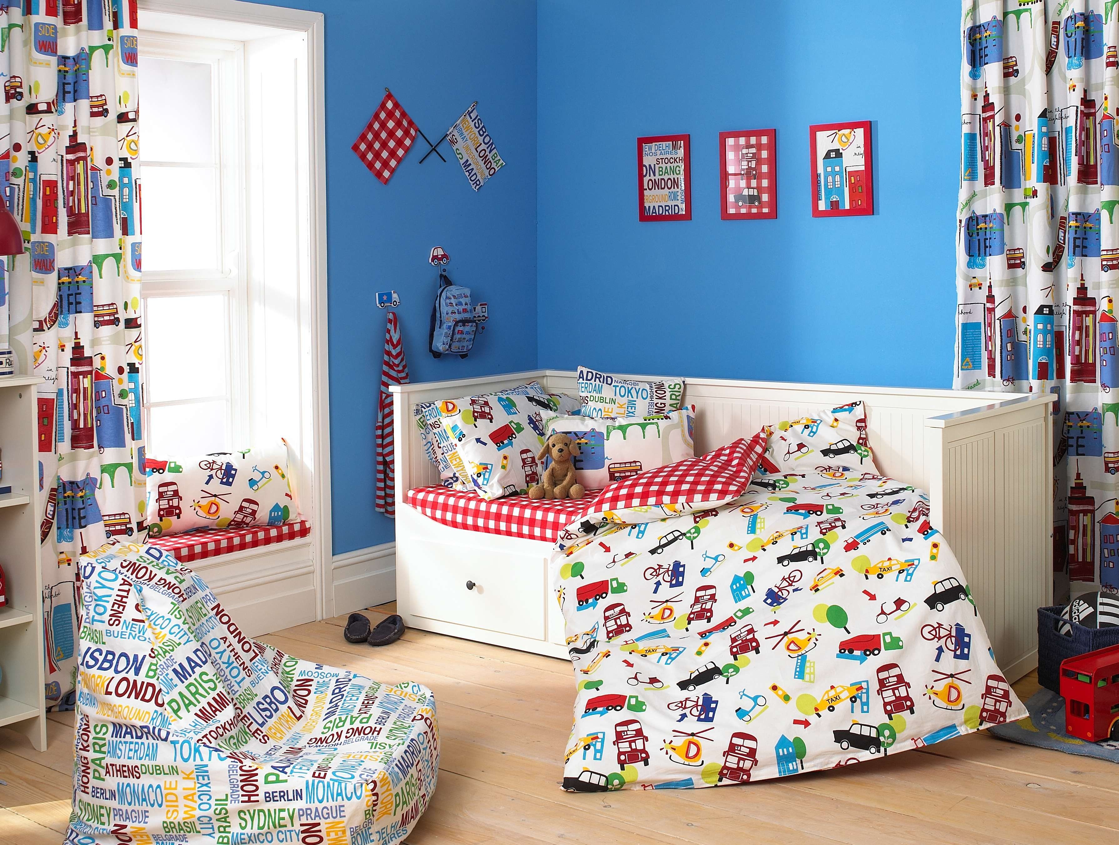 Delightful Kids Room Toddler Boy Bedroom With White Stained Wooden