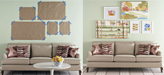 Plan your frames before drill your wall