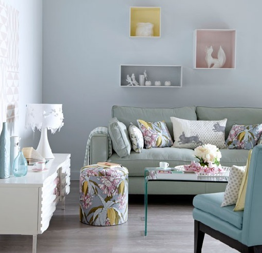 Living room pastel colors living room for Living room ideas pastel